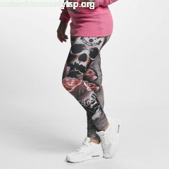 Women Legging/Tregging Rose Skull in olive nlCBcDQo