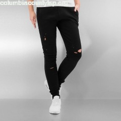 Women Sweat Pant Distressed in black tHsdYEu7