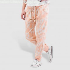 Women Sweat Pant Flowers in orange FJZe21X5
