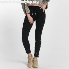 Women Sweat Pant Lace in black hUR1q8aU