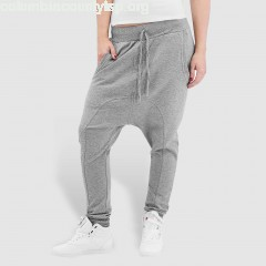 Women Sweat Pant Light Fleece Sarouel in grey o1gTc3no