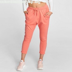 Women Sweat Pant Open Edge Terry Turn Up in rose grCweUHg