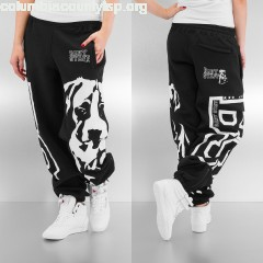 Women Sweat Pant Puppy in black XZKrmtrB