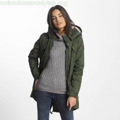 Women Winter Jacket Clancy in olive dM70RIeM