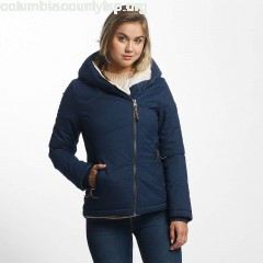 Women Winter Jacket Gordon in blue coaEWgz4