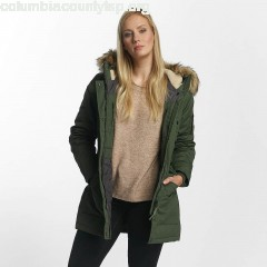Women Winter Jacket Hailey in olive YVfSKpP2
