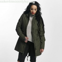 Women Winter Jacket Indy in olive w90KVQ7Z