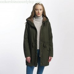 Women Winter Jacket onlFavourite in green xfMGARYt