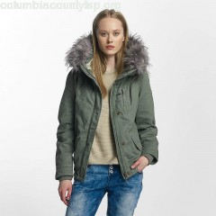 Women Winter Jacket onlNova in green YJAjs5Tw