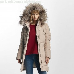 Women Winter Jacket onlRhoda in beige 2tZ4iEkU