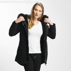 Women Winter Jacket Oversize in black BwqznVIp
