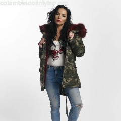 Women Winter Jacket Ultra Oversize in camouflage V9iMSVgs