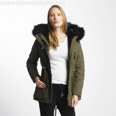 Women Winter Jacket Ultra Oversize in olive VfslD9Pa