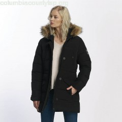 Women Winter Jacket Winter in black drQQTVMC