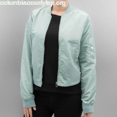 Women Bomber jacket cmDicte Spring Short in blue TQeDUv6a