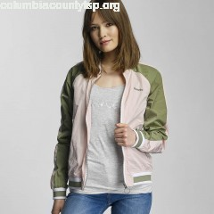 Women Bomber jacket Colourblock in rose cMdCtV1J