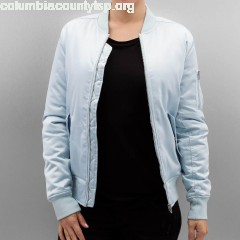 Women Bomber jacket Ladies Satin Bomber in blue bN5E9odQ