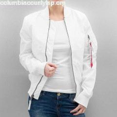 Women Bomber jacket MA-1 TT in white WjC18vyj