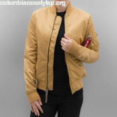 Women Bomber jacket MA 1 VF 59 Women in gold colored 7PoaWKHz