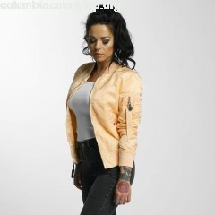 Women Bomber jacket MA-1 VF in orange i2nOnOec