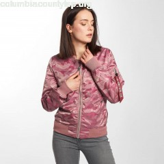 Women Bomber jacket MA-1 VFLW in pink sUAmBrMc