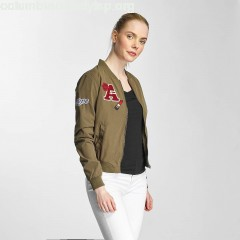 Women Bomber jacket OnlJennie in olive Zmrs2TLy