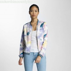Women Bomber jacket Rib Tippings in colored YG72A2NQ