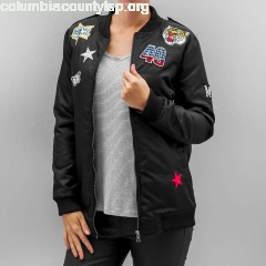 Women Bomber jacket Romy Pop in black 54XFNBpZ
