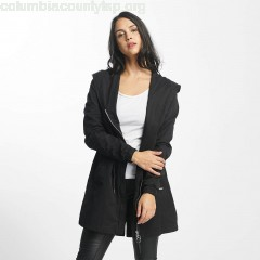 Women Coats Feminine Beltet in black 3IJnRBmf