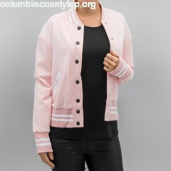 Women College Jacket Parisiennes Teddy in rose xb6To9e1