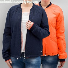 Women College Jacket Reversible in blue DH7pWI0H