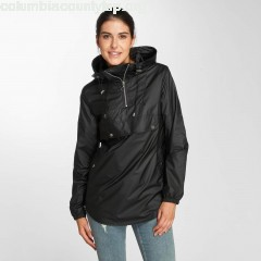 Women Lightweight Jacket High Neck Pull Over in black trDXQRUl