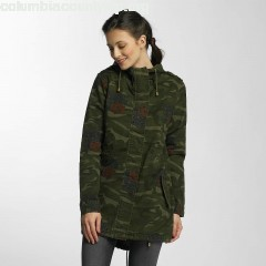 Women Lightweight Jacket Hooded Cotton Twill Unlined in camouflage OJiuzdP2