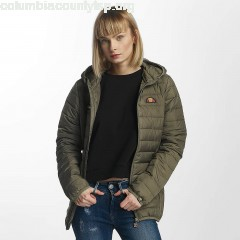 Women Lightweight Jacket Lompard Padded in olive ypeaGMQE