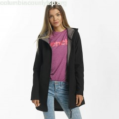 Women Lightweight Jacket Slim Longline Bonded in black 0Wej0US8