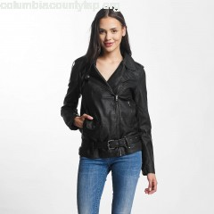 Women Leather Jacket jdyErica Long Faux Leather Biker in black uHIsbyml