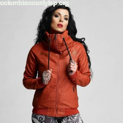 Women Leather Jacket One Love Faux Leather in red 366yWZdV