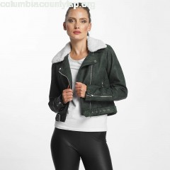 Women Leather Jacket onlDanielle Faux Leather Biker in green 7R7BAE3W