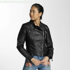 Women Leather Jacket Vanessa in black tsSI8qhZ