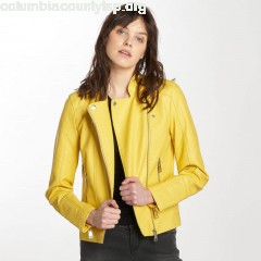 Women Leather Jacket vmKerry in yellow CH7ax6Le