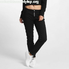 Women Chino 5 Pocket in black 4x37XN7s