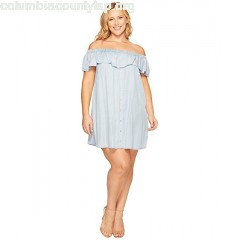 B Collection by Bobeau Plus Size Rosie Off Shoulder Flounce Dress z58sAmOy