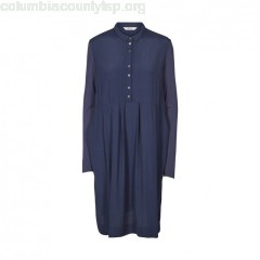 Button up shirt dress, navy blue, And Less   wE8F3RYr