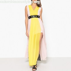 Colourblock voile maxi dress, multi-coloured, Liu Jo   gkxt1Ezp