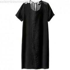 Dress with openwork embroidery, black, School ag   DEtBT2cA
