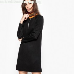 Dress with ribbed zip up collar Jour Né X Madame 1ViFTiyw