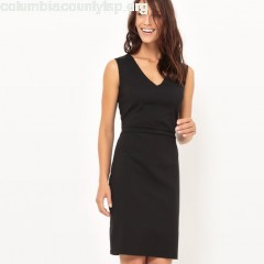 Fitted v-neck dress Collections   KwysHWaU