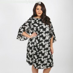 Floral print dress with flared sleeves, printed, Koko By Koko   N25dgWcf