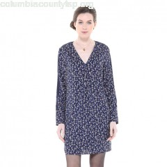 Floral print dress with long sleeves, floral print/navy background, Charlise jhXyxmEm