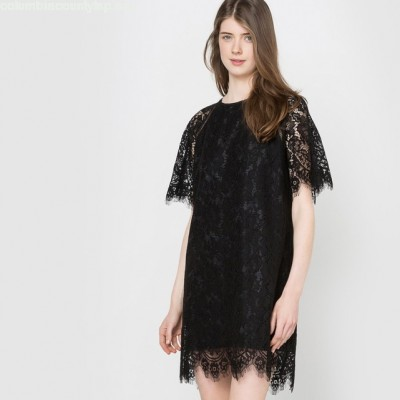 Lace cape party dress, black, Mademoiselle busSqfre